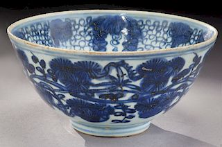 Chinese Ming blue & white bowl,