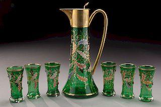 (7) Pcs. Moser liqueur set,