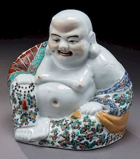 Chinese Republic famille rose porcelain Buddha.