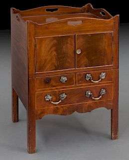 Converted Georgian mahogany bedside commode