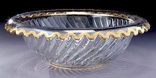 Large Baccarat style centerpiece bowl