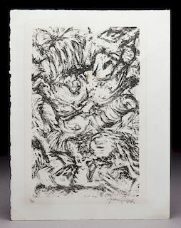 "Jackson Pollock ""Untitled"" offset lithograph."