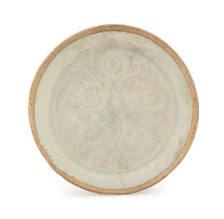 A Chinese Qingbai Glazed Porcelain Dish Diam 4 in., 10 cm.