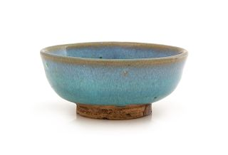 A Chinese Junyao Lavender-Blue Glazed Stoneware Bowl Diam 3 7/8 in., 9.8 cm.