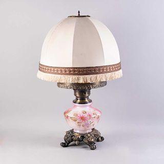 Lámpara mesaSiglo porcelana con de policromada pantalla gressfuste y arpillada acabado cazador de diseño XXElaborada en SGpzVMqU