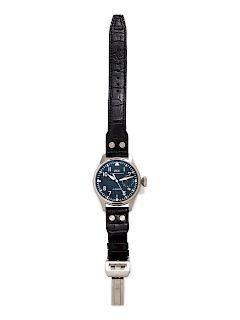 IWC Schaffhausen, Stainless Steel 'Fliegeruhg Big Pilot 7 Days' Wristwatch