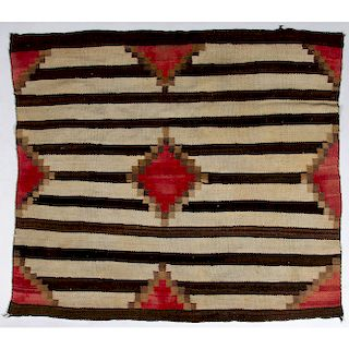 Navajo Third Phase Chief's Blanket / Rug, From the Stanley Slocum Collection, Minnesota