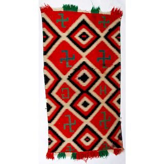 Navajo Germantown Weaving / Rug, From the Stanley Slocum Collection, Minnesota