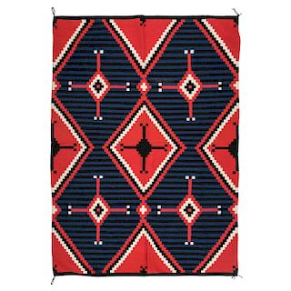 Mary Begay (Dine, 20th century) Navajo Moki-Style Third Phase Chief's Blanket / Rug, From the Robert B. Riley Collection, Illinois