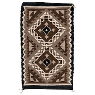 Dorothy Yellowhair (Dine, 1928-2001) Navajo Two Grey Hills Weaving / Rug, From the Robert B. Riley Collection, Illinois