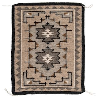 James Sherman (Dine, 20th century) Navajo Two Grey Hills Sampler Weaving / Rug, From the Robert B. Riley Collection, Illinois
