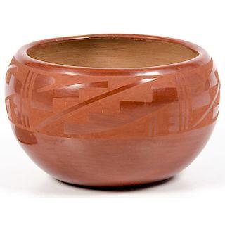 Juanita Gonzales (San Ildefonso, 1909-1988) Painted Pottery Bowl
