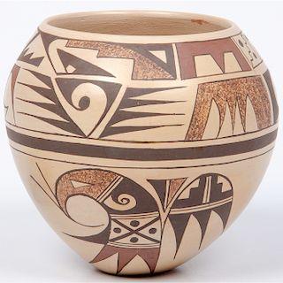 Lillian Namingha (Hopi, b. 1941) Polychrome Pottery Jar