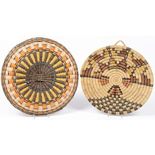 Hopi Basketry Trays, From the Stanley Slocum Collection, Minnesota