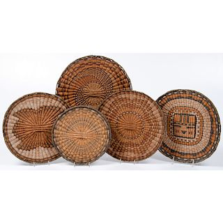 Hopi Third Mesa Basketry Plaques, From The Harriet and Seymour Koenig Collection, New York