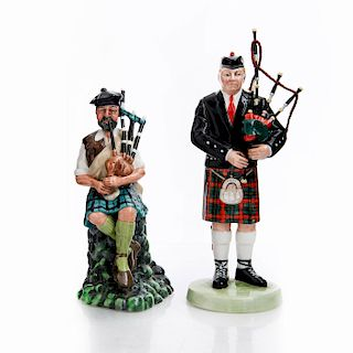 2 ROYAL DOULTON FIGURINES, THE PIPER HN3444 AND HN2907