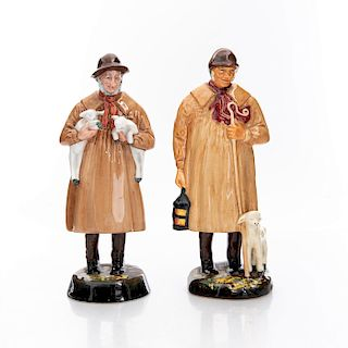 2 ROYAL DOULTON FIGURINES, THE SHEPHERD AND LAMBING TIME