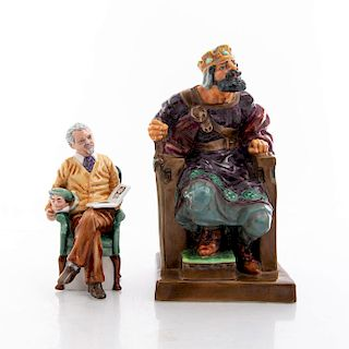2 ROYAL DOULTON FIGURINES, PRIDE AND JOY, THE OLD KING