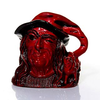 DOULTON FLAMBE LARGE CHARACTER JUG, THE WITCH D7239