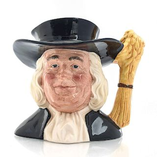 LG ROYAL DOULTON CHARACTER JUG, MR. QUAKER