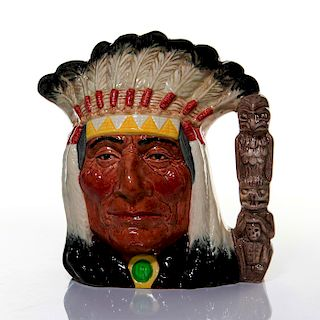 LG ROYAL DOULTON CHARACTER JUG, NORTH AMERICAN INDIAN