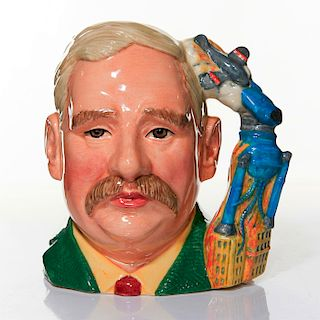 ROYAL DOULTON LARGE CHARACTER JUG, H.G.WELLS D7095