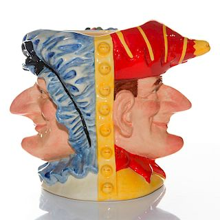 ROYAL DOULTON LARGE CHARACTER JUG, PUNCH AND JUDY D6946