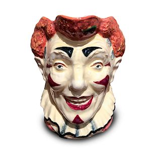 ROYAL DOULTON CHARACTER JUG, THE  CLOWN RED HAIR D5610