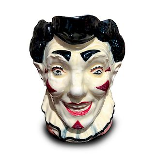 ROYAL DOULTON CHARACTER JUG, THE CLOWN BLACK HAIR