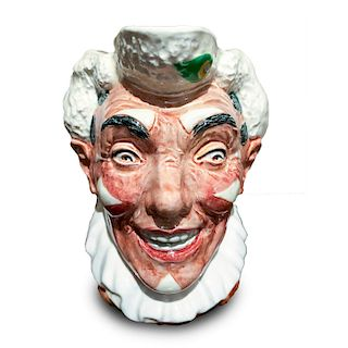 ROYAL DOULTON CHARACTER JUG, THE CLOWN WHITE HAIR D5610
