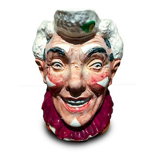 ROYAL DOLTON CHARACTER JUG, THE CLOWN WHITE HAIR D6322