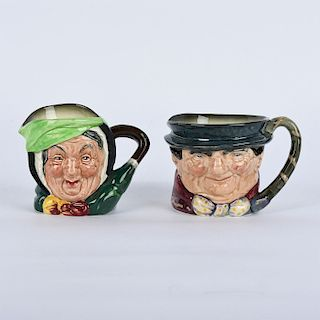 PAIR OF ROYAL DOULTON SMALL CHARACTER JUGS