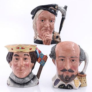THREE LARGE ROYAL DOULTON SHAKESPEAREAN CHARACTER JUGS