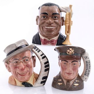 THREE LARGE ROYAL DOULTON ENTERTAINERS CHARACTER JUGS