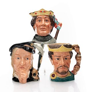 3 LG CHARACTER JUGS, SHAKESPEAREAN COLLECTION