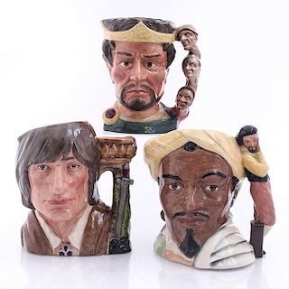 3 LG DOULTON CHARACTER JUGS, SHAKESPEAREAN COLLECTION