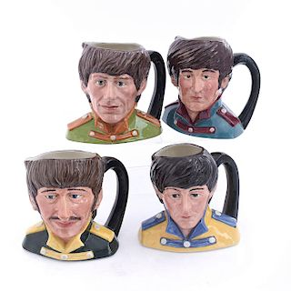 LG COMPLETE SET OF DOULTON CHARACTER JUGS,THE BEATLES