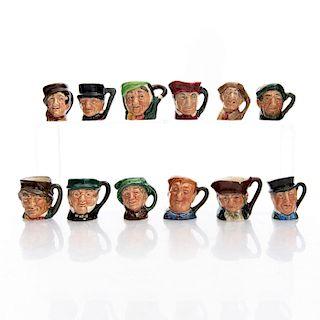 12 TINY ROYAL DOULTON CHARACTER JUGS