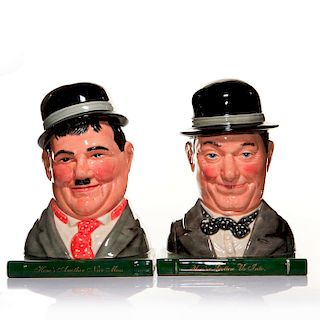 2 ROYAL DOULTON LAUREL & HARDY LIMITED EDITION BOOKENDS