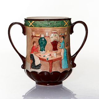 ROYAL DOULTON LOVING CUP, POTTERY IN THE PAST, D6696