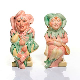 ROYAL DOULTON TOBY JUG, THE JESTER AND THE LADY JESTER