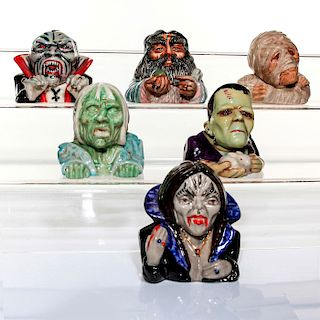 6 KEVIN FRANCIS FACE POTS, MONSTERS