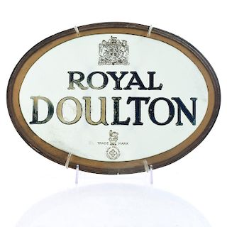 ROYAL DOULTON GLASS AND METAL ADVERTISING SIGN