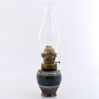 19TH CENTURY DOULTON LAMBETH OIL LAMP
