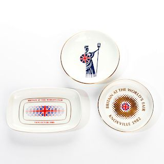 ROYAL DOULTON WORLDS FAIR ADVERTISING TRAYS