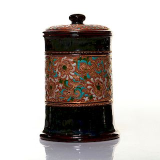 ROYAL DOULTON COVERED TOBACCO JAR