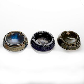 3 ROYAL DOULTON ADVERTISING ASHTRAYS
