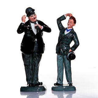 2 ROYAL DOULTON LAUREL & HARDY LIMITED EDITION FIGURES