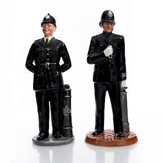 2 ROYAL DOULTON BRITISH POLICEMEN FIGURINES