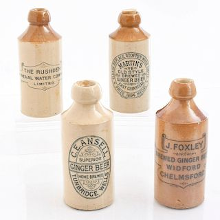 4 DOULTON LAMBETH CERAMIC SOFT DRINK BOTTLES